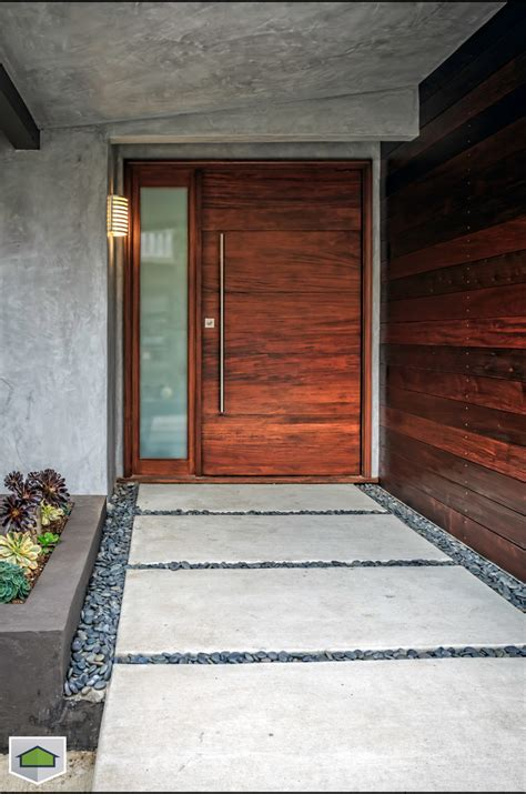 contemporary double door exterior double front doors exterior modern with bushes clerestory