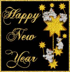 happy new year glitters greeting card free coloring pages