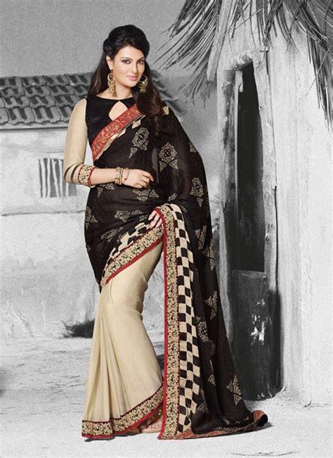 black simple saree party wear sarees party wear