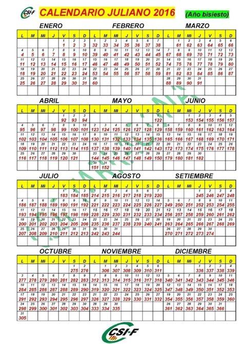 Calendario Gregoriano 2017 Calendario 2016 Dia Juliano Free Calendar Template