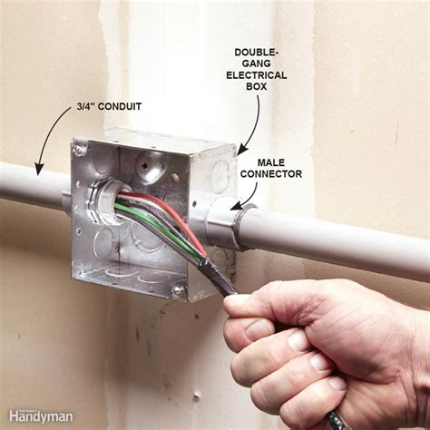 electrical fittings for house wiring installing pvc conduit family handyman