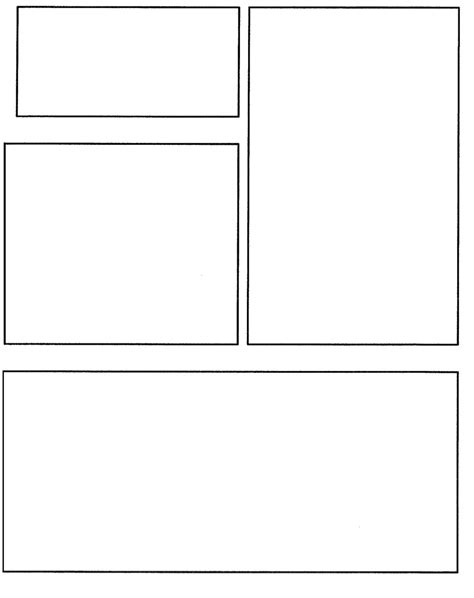 comic book page template free coloring pages of comic book template