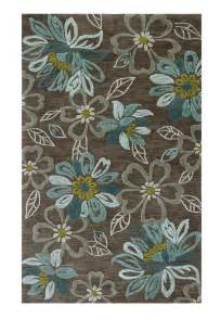 Brown And Teal Area Rugs Brown Teal Floral Area Rug Rooms Furniture