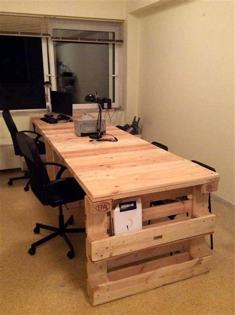 diy pallet office desk  pallets