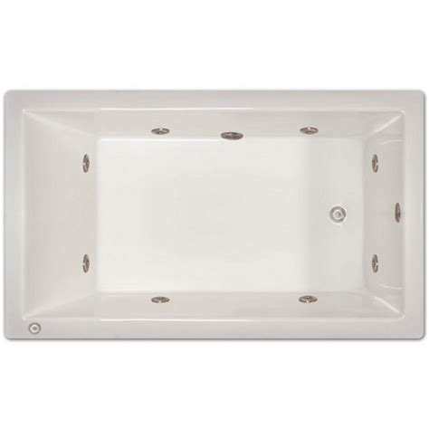 6 ft right drain drop in whirlpool tub in white lpi228 w