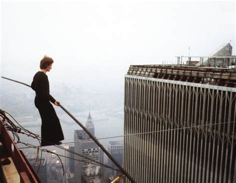 philippe petits real life walk   twin towers