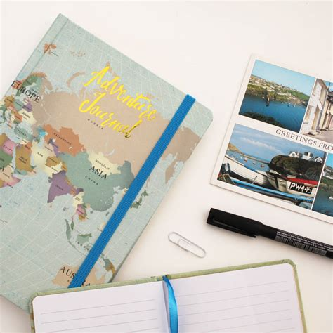 design for journal notebook map travel journal notebook by posh totty designs
