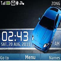 themes clock car download car clock nokia theme mobile toones