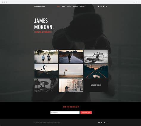 12 Video Website Templates For Film Entertainment Professionals Filmmaker Website Template