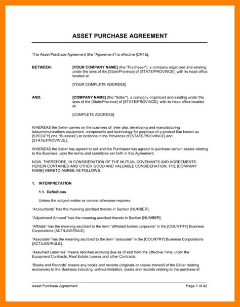 3 simple purchase agreement template cio resumed