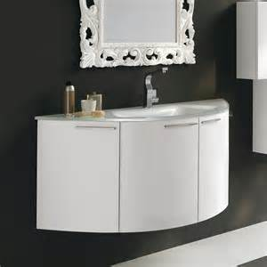 acquaviva a59998 archeda curved bathroom vanity white
