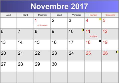Calendrier Novembre 2017 Calendrier 2017 A Imprimer Calendar Template 2016