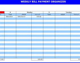 Bill Organizer Template by Search Results For Bill Payment Organizer Calendar