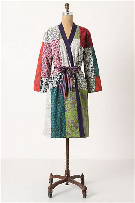Patchwork Cloak - quilted patchwork robe anthropologie
