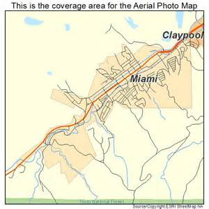 aerial photography map of miami az arizona