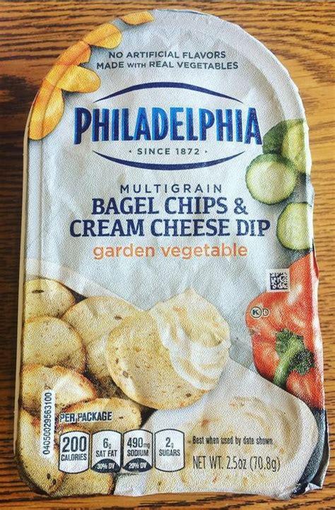 philadelphia bagel chips and garden vegetable cheese
