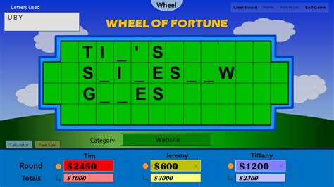 Tim S Slideshow Games Wheel Of Fortune For Powerpoint Wheel Of Fortune Power Point