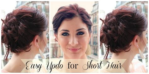 hairstyles to do at home for medium hair easy updo for short hair youtube