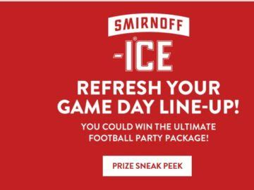 Smirnoff Ice Sweepstakes - smirnoff ice game day sweepstakes