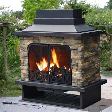 Sunjoy Sutton Fire Place   Outdoor Living   Outdoor