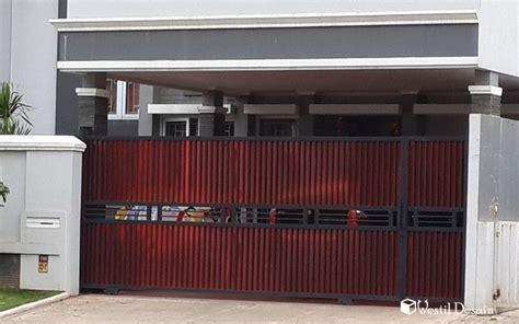 desain gerbang minimalis desain pintu gerbang pagar rumah westil desain