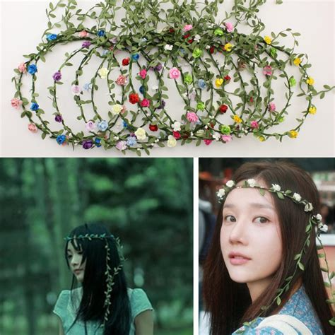8 Floral Inspired Accessories by Wholesale Boho Headband Flower Crown Headbands Bridal