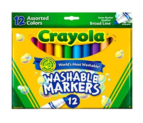 Crayola Ultra Clean Washable Markers Color Max 12 Fineline crayola 12 ct ultra clean washable markers import it all