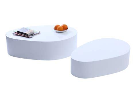 tavoli laccati bianchi tavolini bassi design laccati bianchi camille gruppo di 2