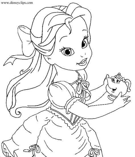beauty and the beast coloring pages and pictures print
