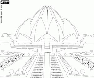 coloring pages of india gate lotus temple bah 225 237 house of worship in delhi india