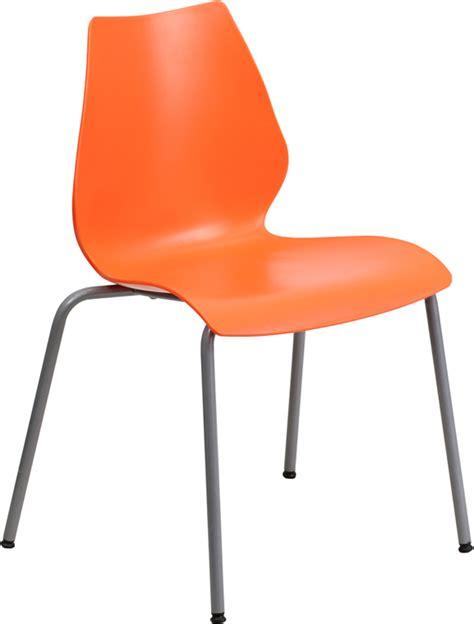 Orange Chair hercules series 770 lb capacity orange stack chair with