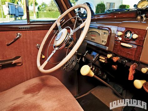 Chevy Interior by 1938 Chevrolet Master Deluxe Coupe Lowrider Magazine