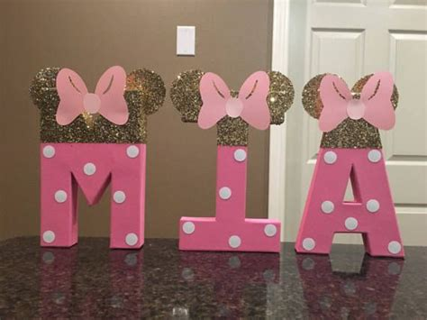 Mimi In Letters by Minnie Mouse Custom Name Letters Price Is Per Letter
