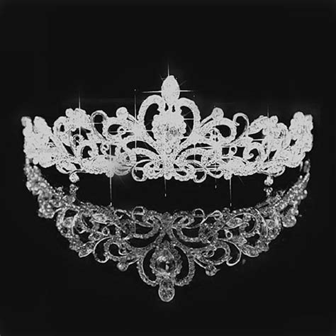 Du Tiara 2017 princess crown headband rhinestone tiara and crowns hair band jewelry silver