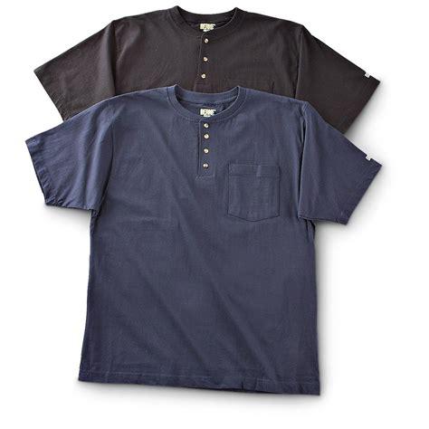 Sleeved Pocket T Shirt berne 174 2 pk sleeved henley pocket t shirts