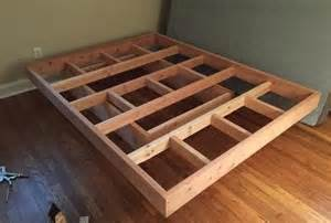 How To Make A Platform Bed Frame Plans by Gallery For Gt Diy Floating Bed Frame