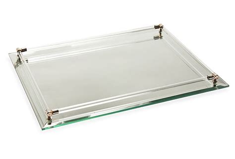 Mirrored Bathroom Tray by Mirrored Vanity Tray