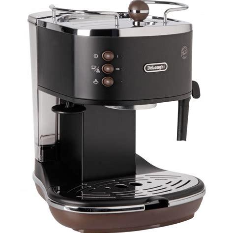 Delonghi Ecov 310gr Vintage Coffee Maker delonghi icona vintage espresso cappuccino machine matt black and brown ecov310bk around