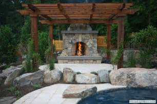 Pergola With Fireplace by Pergola With Fireplace Outside Projects Pinterest