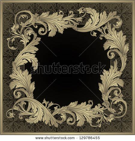 baroque pattern frame vintage borders baroque and frames on pinterest