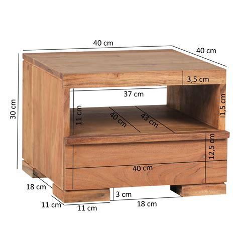 comodino 30 cm wohnling acacia massiccio tavolo di legno comodino con