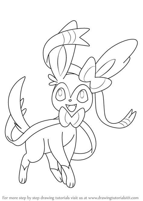 pokemon coloring pages sylveon pokemon sylveon outline images pokemon images