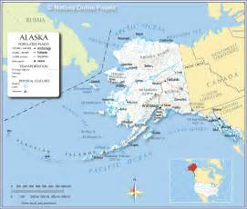 us map where is alaska reference map of alaska usa nations project