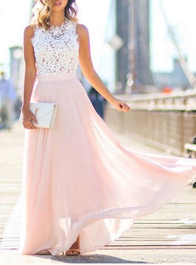 Graziella Top Pink Size 8th maxi dress white lace top pink skirt sleeveless