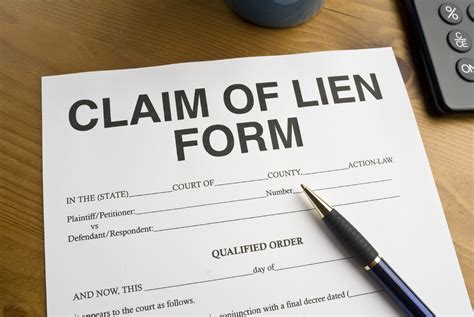 what is a lien on a house how to file a lien on property