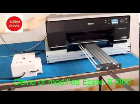 Printer Dtg Epson A3 diy flat bed dtg printer a3 epson stylus r1900 how to save money and do it yourself