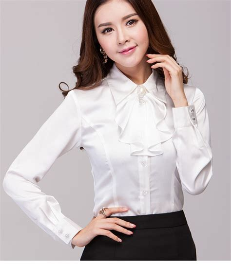 White Blouse in satin blouses with model image sobatapk
