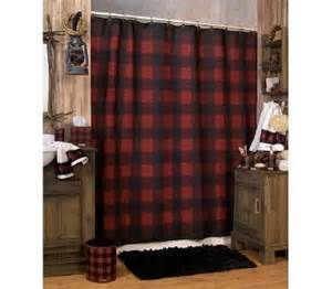 Red Plaid Drapes Woolrich Buffalo Check Red Amp Black Plaid Shower Curtain Ebay