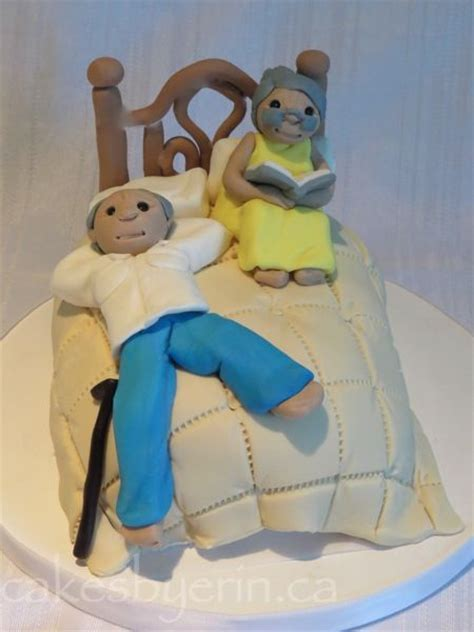 Old Couple Anniversary Cake Topper   Cakes by ErinCakes by