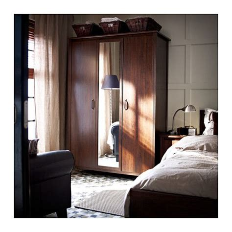 brusali bedroom brusali wardrobe with 3 doors brown shoe closet door